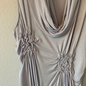 Casual/Dressy Halter Top Grey Cotton